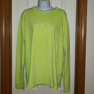 Lime Green 'Obey' Shirt